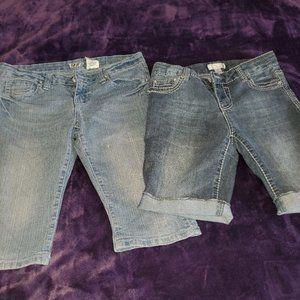VIP and Xhilaration knee length shorts.  BUNDLE